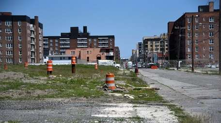 Apartment buildings are planned at the Superblock property