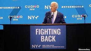 Former Vice President Joe Biden speaks in support