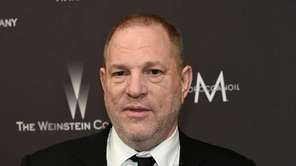 Harvey Weinstein arrives at the Golden Globes afterparty