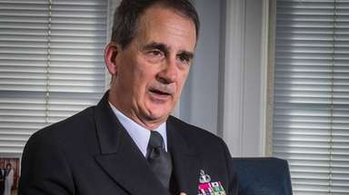 Rear Adm. James A. Helis, superintendent of the