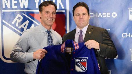 Rangers new head coach David Quinn, left, with