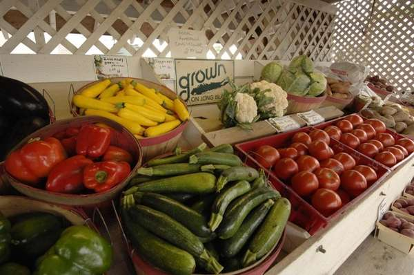 Locally grown produce at Schmitt's farm, Main Road
