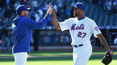 Mets manager Mickey Callaway and reliever Jeurys Familia