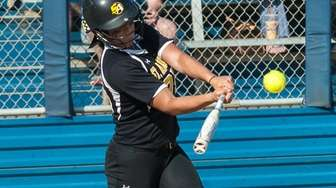 St. Anthony's Kayla Daly hits an RBI double