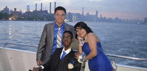 From left, Jackson Bonilla, Praise Akintola and Vanessa