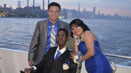 From left, Jackson Bonilla, Praise Akintola and Vanessa