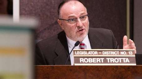 Legis. Robert Trotta during a meeting of the