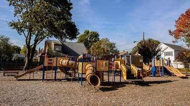 Tiny Town playground in Floral Park is a