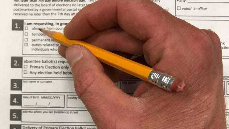 New York State absentee ballot application.