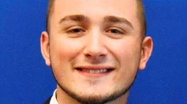 Elmont native Michael A. Braun, 22, was sworn