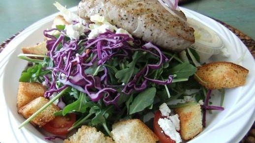 Arugula salad at Farm Country Kitchen in Riverhead