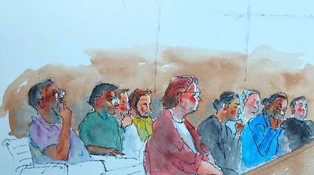 A sketch of the Mangano jury at federal
