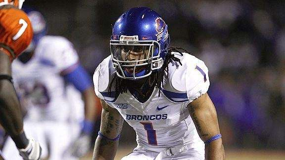 Kyle Wilson of Boise State pursues a play