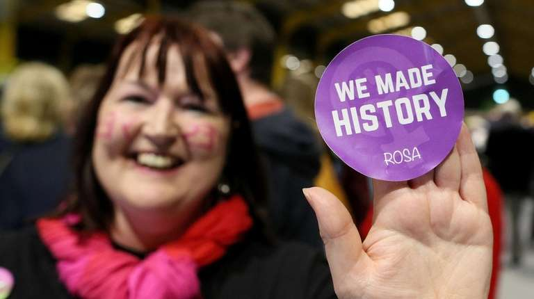 Early Irish referendum results show 66% voted to end abortion ban