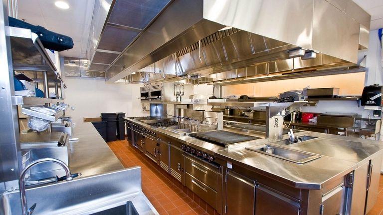 The kitchen at Bar Americain at Mohegan Sun.