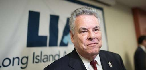 Rep. Peter King (R-Seaford) at a Long Island