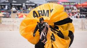 The U. S. Army Golden Knights parachute in