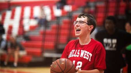 Special needs student Matt Kramer of Half Hallow
