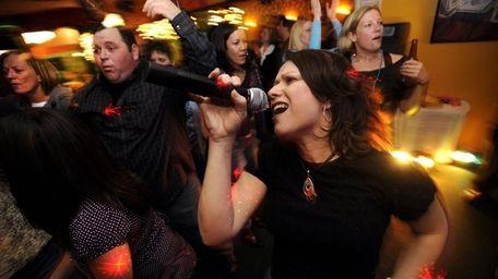 Peg Sattler of Coram has everyone her dancing