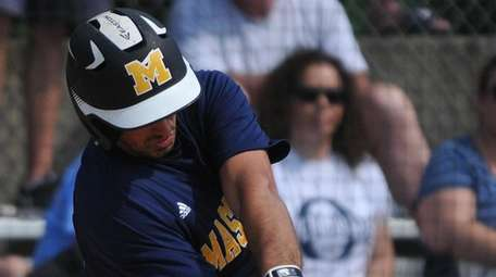 Mike Grisanti #22 of Massapequa connects for an