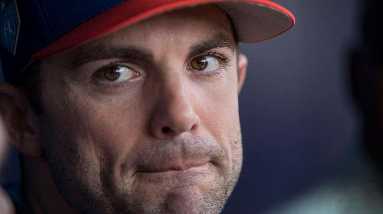 David Wright talks to reporters at spring