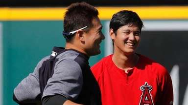 Angels pitcher Shohei Ohtani and Yankees pitcher Masahiro