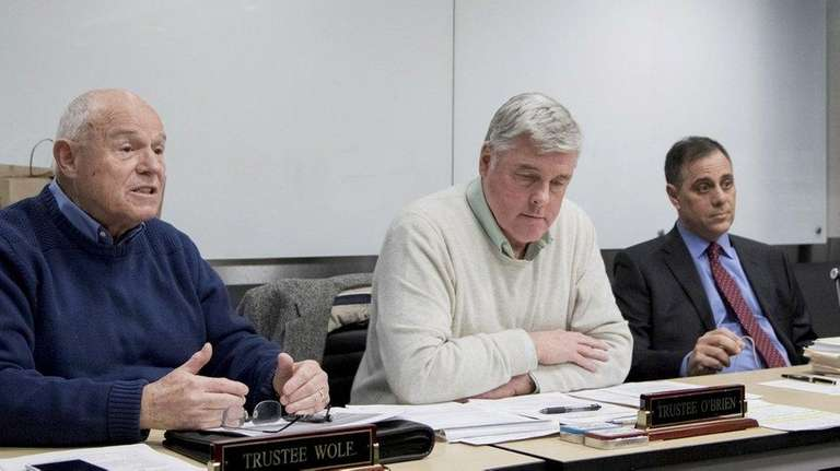 Saltaire Mayor John Zaccaro Jr., right, ran unopposed