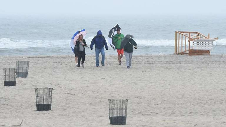 Beachgoers at Jones Beach on Sunday.