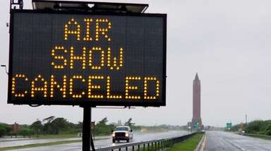 A sign along Ocean Parkway at Jones Beach