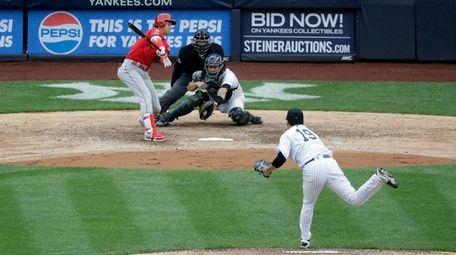 Los Angeles Angels designated hitter Shohei Ohtani of