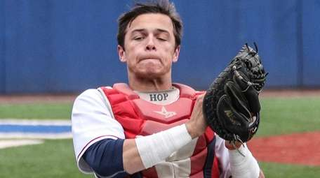 St. John the Baptist catcher Logan O'Hoppe.