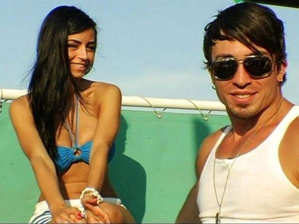 Jonny, pictured with a lady friend, in MTV