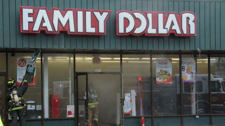 Heavy smoke spread inside a Family Dollar store