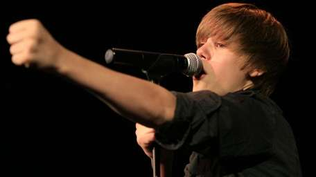 Justin Bieber performs at the Riviera Theater on