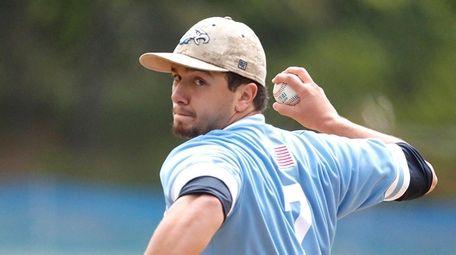 Rocky Point's starting pitcher Ryan Maciaszek (7) delivers