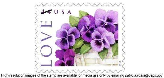 The 2010 USPS Love stamp, featuring a basket
