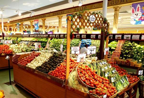 The fruit market at Uncle Giuseppe's Marketplace in