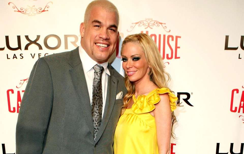 Tito Ortiz and Jenna Jameson in Las Vegas.