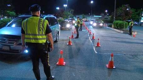 A DWI checkpoint was set up on Friday