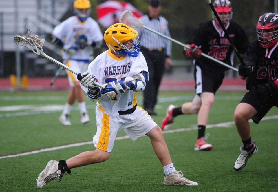 Comsewogue's Connor Duddy takes a shot during the