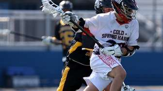 Cold Spring Harbor's Richie Striano moves against Wantagh