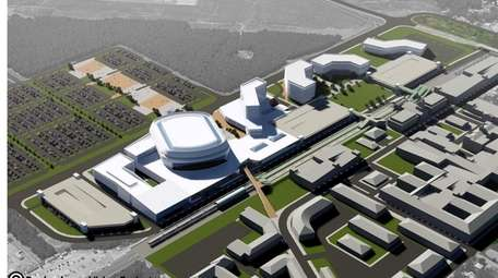 A rendering shows the arena complex proposed for