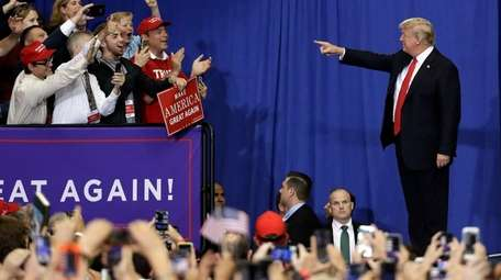 President Donald Trump takes the stage Tuesday at