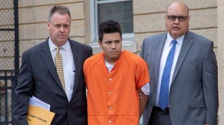 Josue Figueroa-Velasquez, 18, charged with second-degree murder, leaves