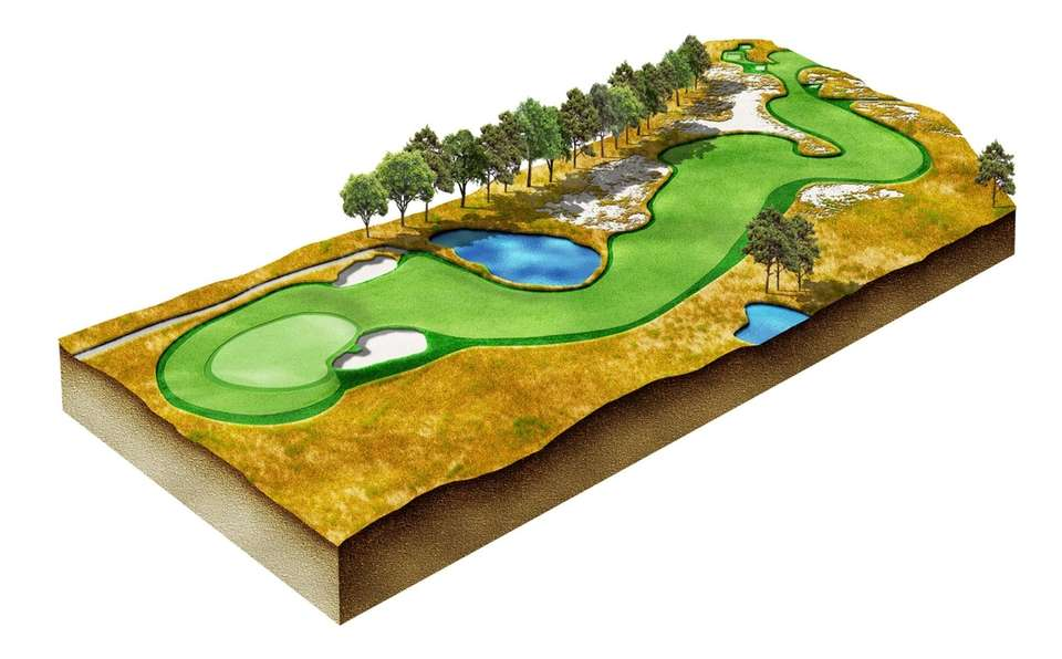 The rough here cost golfers an average of