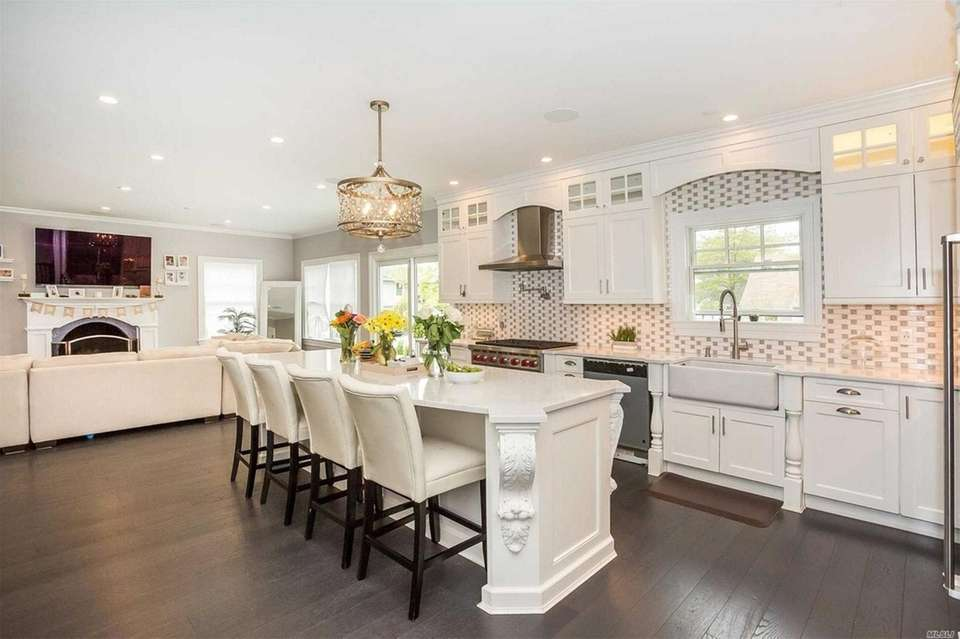 The kitchen in this Wantagh Colonial, with a