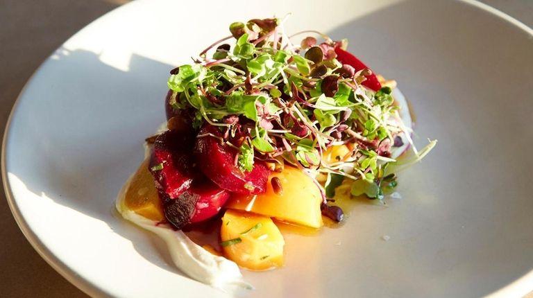 Beet salad, or pantzaria, is a refreshing, colorful