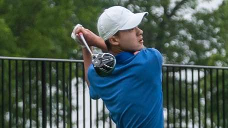 Manhasset's Adam Xiao competes in the Long Island