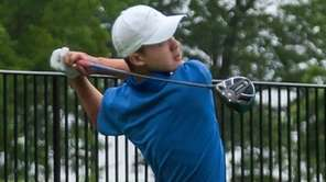 Manhasset'sAdam Xiao competes in the Long Island boys
