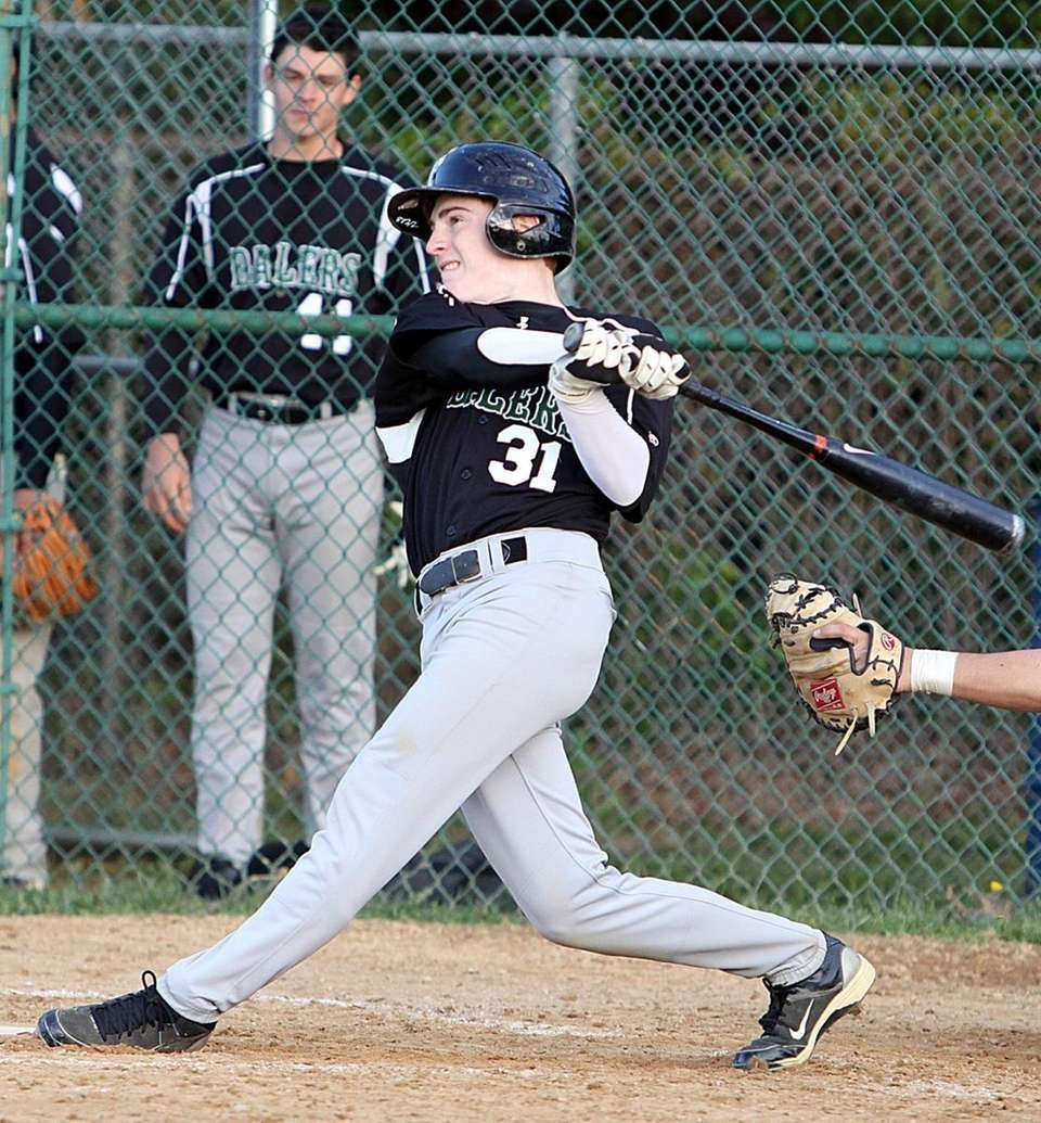 Farmingdale's Vinny Schultz tags a single and an